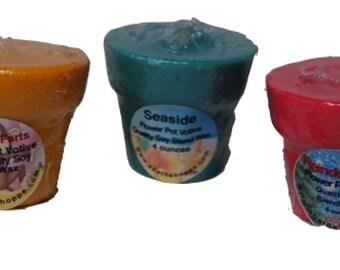 1 dozen 4 oz Flower Pot Candle Votive Refills