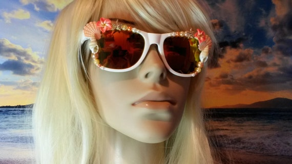 I'm Really A MERMAID Sunglasses Sunnies Sun Glasses Im Wayfarers Aviators Ariel Beach Sea Siren Ocean Nautical Pinup Mirrored Orange A001