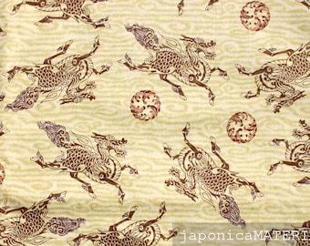 Japanese fabric, 1/2 yard, Kirin, Beige, 100% cotton