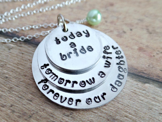 Jewelry Wedding Gift For Daughter : Wedding Gift Wedding Gifts For Brides Gift by TooStampingCutebyJK