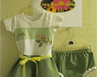 baby t-shirt dress - Snuggle Bug