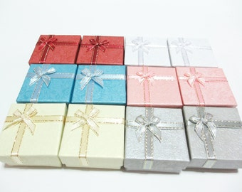 12 Medium Size Accessories Gift Boxes, Multi Color Paper Gift Box, Jewelry Box, Gift Box