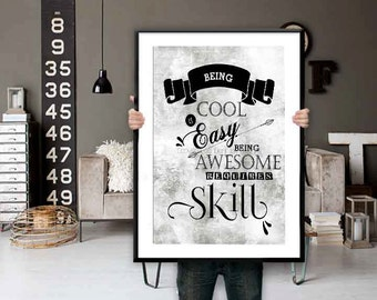 Teen Room Decor Black and White Decor Industrial Wall Art Teen Bedroom Decor Kids Room Decor
