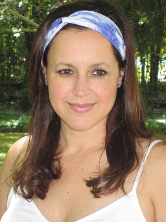 Hippie Tie Dye Headband Tie Dye Headband Blue Tie Dye