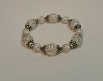 Crystal Clear (or Black) Stretch Bracelet