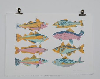 Scottish Fish Screen Print