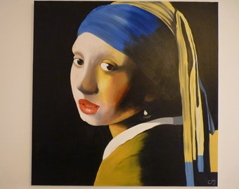 The girl with the Pearl Earring (reproduction)
