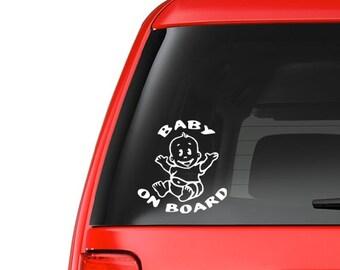 Baby on Board (M13) Vinyl Decal Sticker Car/Truck Laptop/Netbook Window