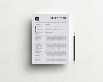 Good Resume Template With Photo | CV Template + Cover Letter For MS Word |  Creative And Intended Creative Professional Resumes