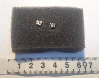 Nickel Free Butterfly Stud Earrings