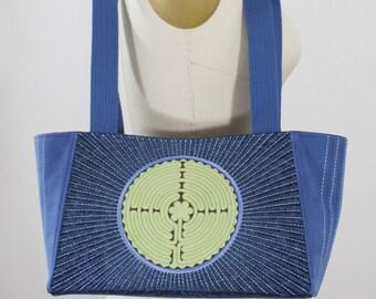 Labyrinth Batik Embroidered Handbag