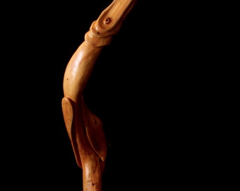 """Wood Carving, Wooden Sculpture, Stylized Bird, """"Rise"""""""