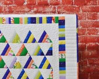 Baby quilt ' Kite '. Baby patchwork quilt ' Kite '