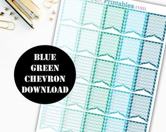 Chevron Flag Sq Printable Planner Stickers / Erin Condren Printable / Plum Paper Planner / Planner Insert Instant Digital Download 00045