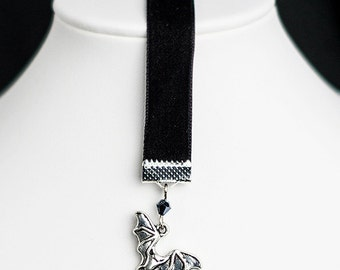 Bookmark with bat pendant