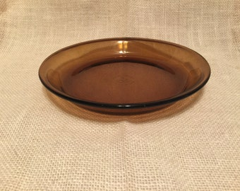Amber Fire King 9 Inch Pie Plate Baking Dish Vintage Anchor Hocking