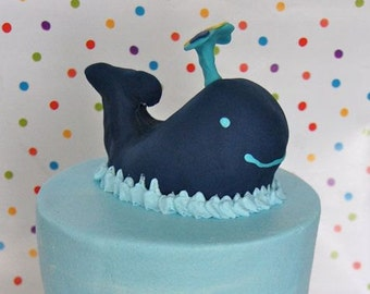 Whale Cake Topper (100% Edible)