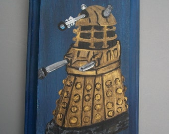 Doctor Who wood plaques/signs, Dalek, Tardis, Cybermen, Spoilers Dorm Bedroom Home Decor