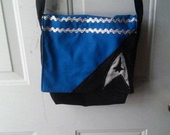 Commander Spock Star Trek Geek Cross Body Bag Messenger Bag Purse