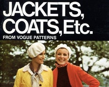 FREE US SHIP Vogue Book Everything about Sewing Easy Unlined Jacket Coats Vintage Retro 1970's 70's 1972 Sewing Pattern Booklet Out of Print