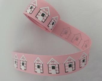 Beach Hut Ribbon Pink