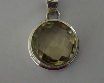 Wear- Any Where LEMON TOPAZ Silver Pendant
