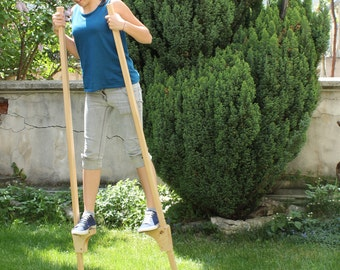 Wooden Stilts for children, Wooden Legs, Gift for Kids, Wooden Hooks, Eco friendly kids toy