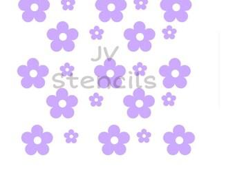 Pretty Flowers Stencil