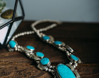 """Stunning Native Composite Turquoise 22"""" Necklace"""