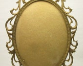 Vintage Brass Victorian Style Picture Frame with Convex Glass