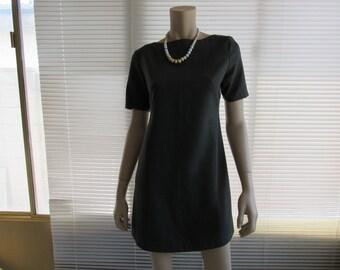 Women Classic Boat Neck Short Sleeve Knee Length Formal Dress