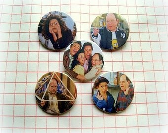 Seinfeld - pinback button or magnet 1.5 Inch