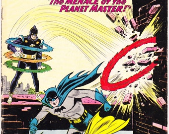 Batman in Detective Comics 296, Robin comic book, Vintage DC Comics, Silver Age, Planet Master art. The Boy Wonder from 1961 in VG+ (4.5)