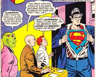 Superman 172  comic book, Lex Luthor, Brainiac, LSH, Legion Of Superheroes. Curt Swan art. 1964 DC Comics in VGFN (5.0)