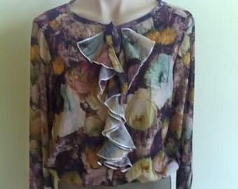Gorgeous chiffon floral top