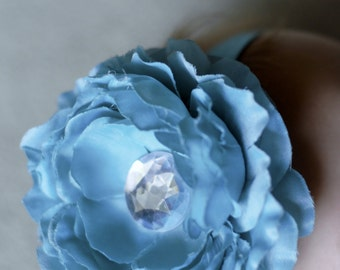 Light Blue 3 in Flower Headband