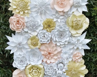 Paper Flower Backdrop For Weddings And Events Flowers Decorations
