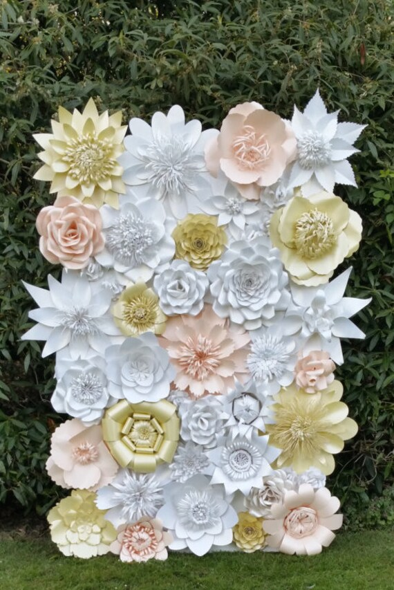 Paper Flower Backdrop For Weddings And Events Paper