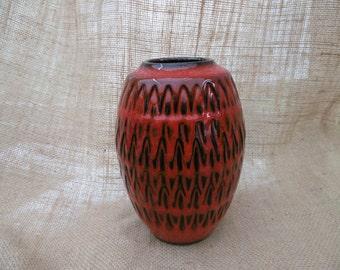 West German art pottery vase 1970s