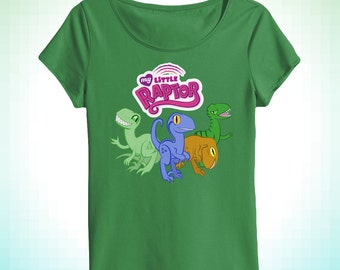 My Little Raptor women's scoopneck tee inspired by Jurassic World and My Little Pony