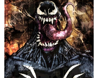 "Venom - Venom Color Art Print - 8.5"" x 11"""