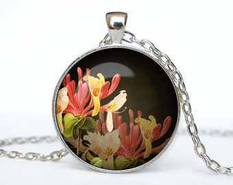 Flowers necklace Flowers  pendant flowers jewelry