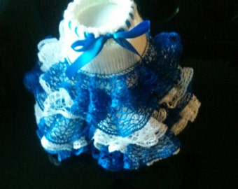 Knitted ruffled skirt sizes available 18 months 2-3 and 4-5