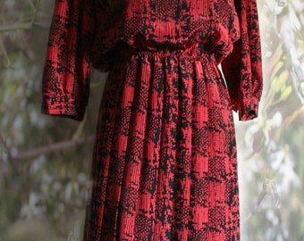 Red Vintage Dress by Alexis Petites