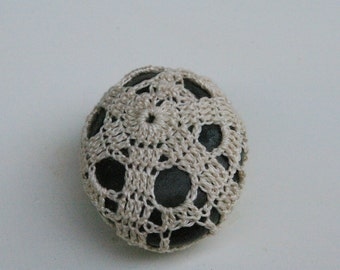 Lace crochet zen decoration covered roller