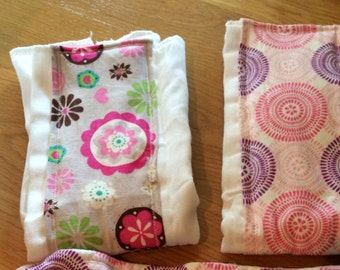 handmade burp cloths burpies!