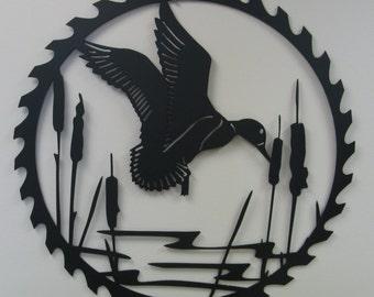 Metal Wall Art- Duck- Saw blade