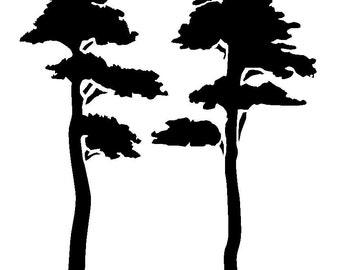 """12/12"""" tree stencil design 1."""