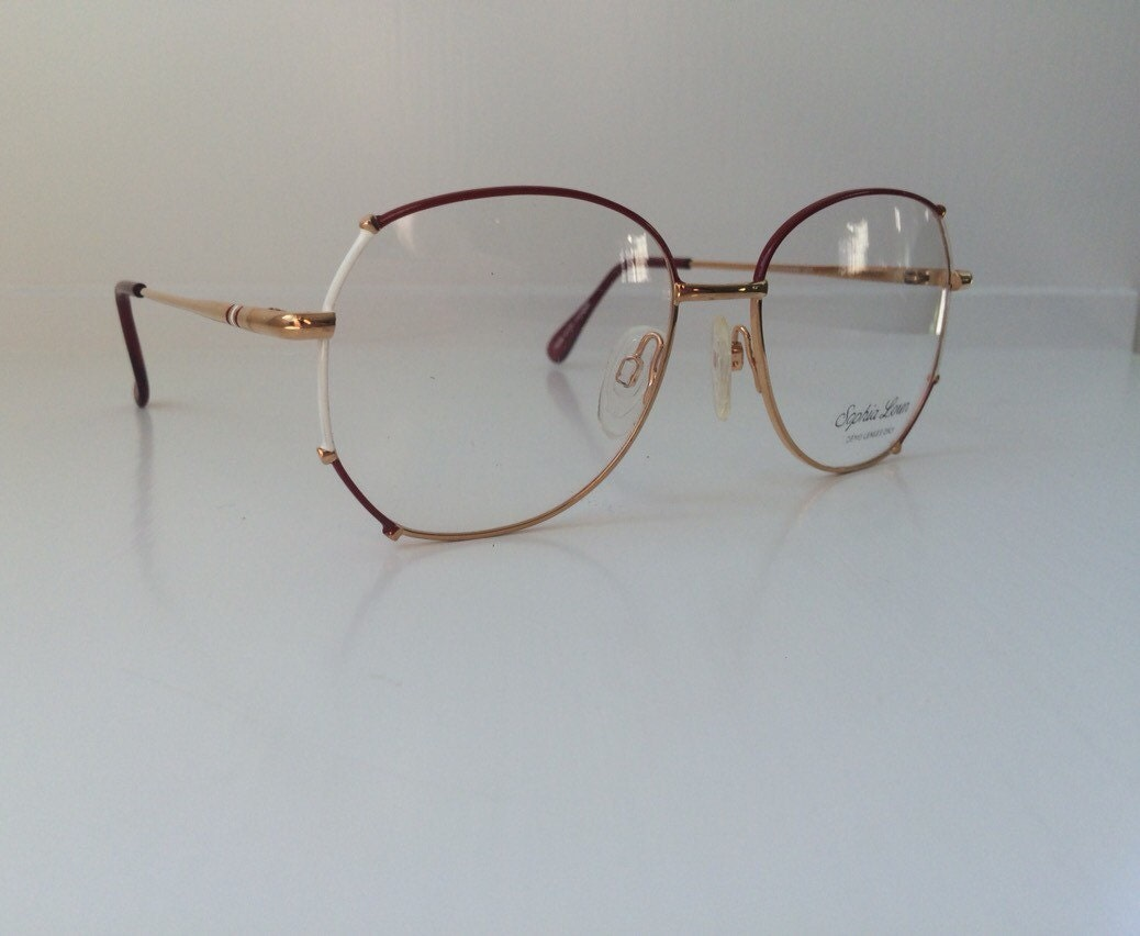 Gold Frame Glasses Tumblr : Vintage Eyeglass Frames Sophia Loren Glasses 1980s-1990s