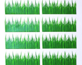 Grass Mini Border Stickers